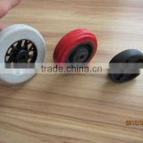 4 inch hollow plastic roller wheel 4x1.25