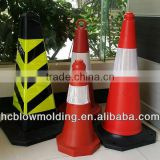 OEM Blow Molding plastic reflective traffic cone,road block safety cones hdpe Huizhou factory