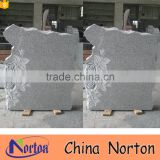 Carving flower holder cheap chinese granite headstone cover NTGT-434A