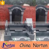 good price western style black marble tombstone design NTGT-178X