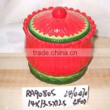 fashionable christmas ceramic soup bowl with lid for christmas supply