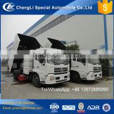 dongfeng brush rotating truck mount vacuum cleaner cleaning street water truck pump