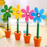 Novelty 5pcs/lot Cute Flower Pot Ballpoint Pens Lovely Sunflower Students Stationery Pen Creative School Supplies Kids Gift