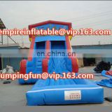 New design inflatable medium size water slide with pool ID-SLM079