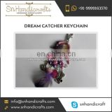 Trendy Pink and Purple Dream Catcher Keychain