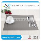 Free sample silver double rectangle placemat with PVC