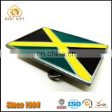 Wholesale Cheap Jamaican Flag metal Belt Buckle
