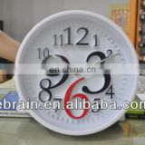 customized modern number design round wall clock