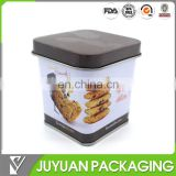 Small tin box with tapper shape, hot sale round cookie tin container