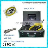 23mm stainless steel camera water well inspection camera with DVR&512Hz transmitter TEC-Z710DL