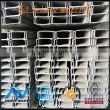 Galvanized C channel steel GB/T700-2006 Q235B ,GB/T-1591-1994Q345B or equivalent C steel