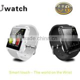 2015 U8 watch with function of passometer&bluetooth,Smart touch,the world on the wrist