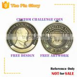 3D metal memorial antique brass double sided medal cheap custom medal