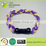 2015 3 Rope Fashion Braid Silicone Titanium Health Bracelet