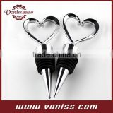 Heart Wine Bottle Stoppers Love Theme Wedding Favors Stainless steel Bottle plug wine plug reusable sealed red wine saver