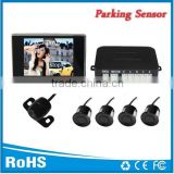 Hot selling dash board monitor and rear view sensors with camera wide lens angle 170 degree and alarm by bibi sound