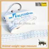 Advertised animal weight measuring horse cow tape measure eco-friendly animal bulk tape measure