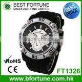 FT1326 Factory price classic silicone chronograph watches made in china