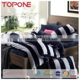 China factory striped printed soft plian home polyester fabric bed cover