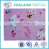 jiangsu fabric hello kitty print fabric for kids pajamas coral fleece changshu fabric wholesale