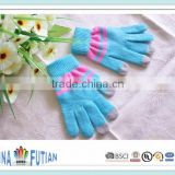 FUTIAN popular wholesale Customized Plain colors Touch screen Gloves acrylic winter gloves