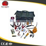 Car emergency safety kit with functional emergency hammer