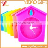 2015 Promotional Silicone Alarm Clock, Colorful Cheap Silicone Table Alarm Clock, Silicone Material House Shape Clock