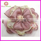 New silk fabric flower for hair and headband, silk hair flower, chiffon fabric flower embellishments