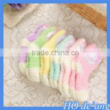 Hogift new winter children candy colored coral cashmere warm tube socks baby floor socks MHo-203