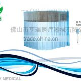 Medical curtain with aluminum track
