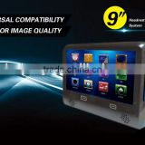 AC 2013 Newest headrest Monitor 9 inch motorized slide shield touch screen removable headrest monitor