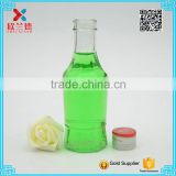 wholesale fancy wine bottles/ empty round liquor bottles 150ml