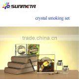blank sublimation crystal smoking set,crystal ashtray                                                                         Quality Choice