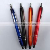 Newest metal stylus pen with pull out paper ,metal stylus banner pen ,metal stylus calendar pen