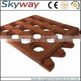Hotel kitchen used anti-slip drainage industry rubber sheet colored rubber sheet rubber mat sbr/nbr/epdm rubber sheet