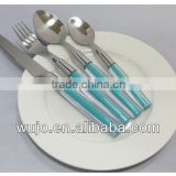 blue color plastic handle stainless steel dinnerware                                                                         Quality Choice