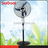 NEW Electric 16 In Oscillating 3 Speed Adjustable Floor Pedestal Stand Fan Black
