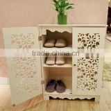 Home furniture decorative wooden carved shoe cabinet                                                                         Quality Choice