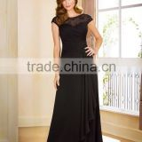 Long Evening Dress 2015 Fashionable Party Dress Plus Size Mother Of The Bride Dress Black Prom Dress XP-59