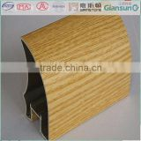 wood pvc coated aluminium sliding door profile material / alu-alloy profiles use for slidin/aluminium profile with wood pattern