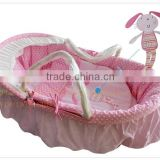 Baby moses basket set bassinet maize basket set wicker basket set cotton fabric embroidery available rocking cradle set