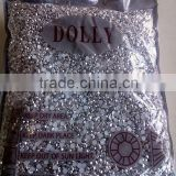 dolly 4mm flat back acrylic resin metalic silver garment accessories stone scarf decorative KG factory