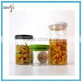 heat resistant borosilicate pyrex glass storage jar container with lid