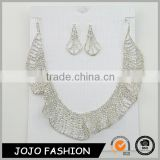 China supplier fashion jewelry white gold bridal earrng and necklace set                                                                                                         Supplier's Choice