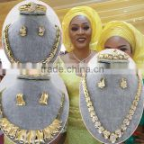 Factory price 18k gold onyx gold jewelry set/african gold jewelry sets/dubai 18 carat gold jewelry sets for Nigeria wedding                                                                         Quality Choice