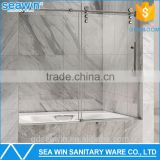 Nice Design Stainless Steel Frameless Sliding Glass Shower Door Bathtub Door Screen Manufacturer