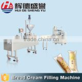 Fast delivery semi autom cutting by alloy steel blade paste sauce filling machine for bread