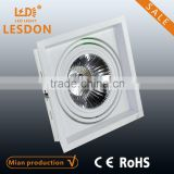 Hot selling!!! Ar111 Single grille Recessed led downlight adjustable dircetional bean pot lamp
