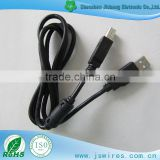 USB A Type Male to USB B Type Male cable Printer Cable with magnetic ring Black Printer Scanner Cable