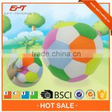 6 inch stuffed fabric color ball with bell for baby